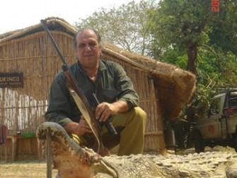 Cocodrilo cazado en Namibia